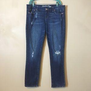 American Eagle Jeans Skinny 77 Dark Size 16 Long